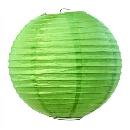"""10"""" Round Paper Lanterns - Kiwi Green (Set of 6)"""