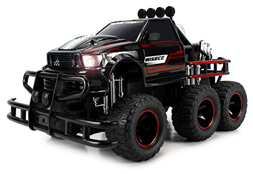 Velocity Toys Speed Spark 6x2 Electric RC Monster Truck Big 1:12 Scale RTR w  Working Headlights, Dual Rear... by Velocity Toys