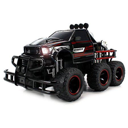 Velocity Toys Speed Spark 6x2 Electric RC Monster Truck Big 1:12 Scale RTR w/ Working Headlights, Dual Rear Wheels (Colors May