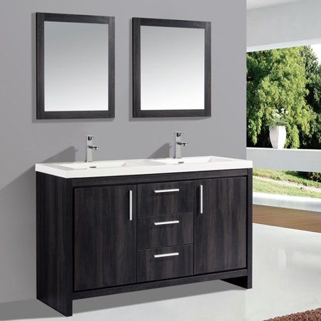Orren Ellis Peiffer 59 Double Sink Bathroom Vanity Set With Mirror
