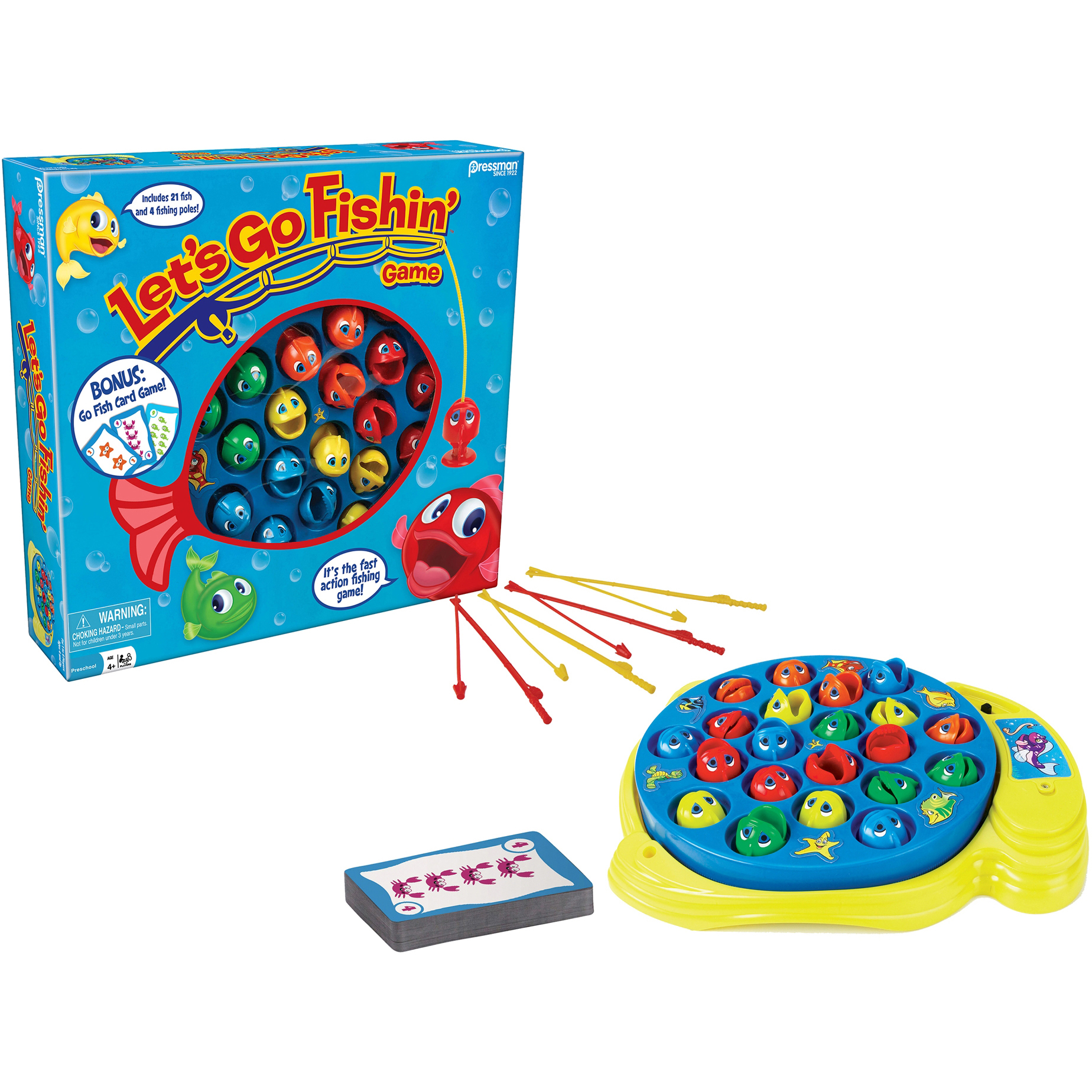 Pressman Toys Let's Go Fishin' and Go Fish Card Combo Game by Pressman Toy