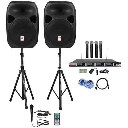 Rockville Dual 12   Laptop Iphone Ipad Android Tv Youtube Karaoke Machine System