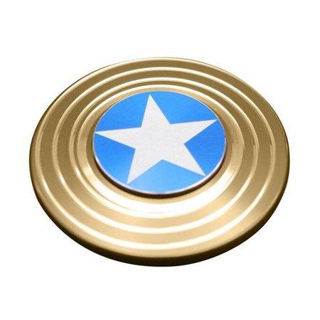 Captain America Fidget Spinner - Metal EDC Finger Anti Stress Spinners - Yellow - Walmart.com