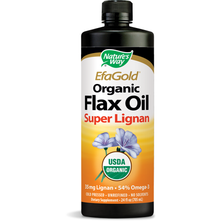 Natures Way EfaGold Organic Flax Oil Super Lignan 24