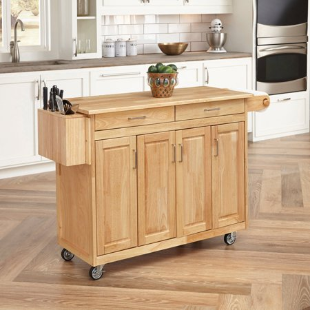 Microwave Breakfast (Natural Breakfast Bar Kitchen Cart with Wood)
