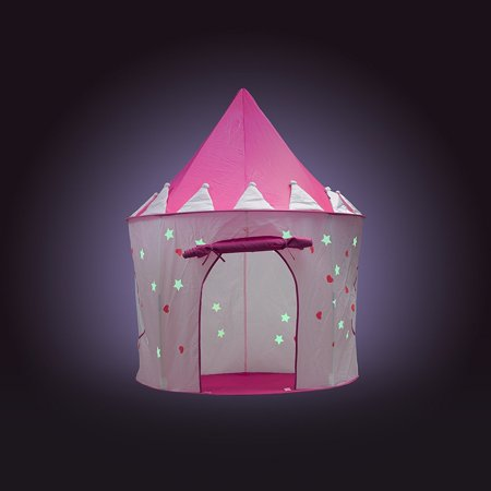 FoxPrint Princess Castle Glow in the Dark Foldable Pop Up Play Tent