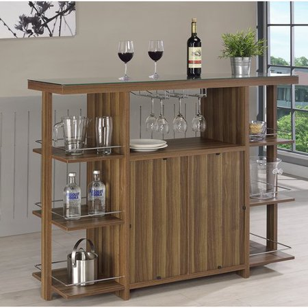 Coaster Company Modern Bar Unit, Walnut