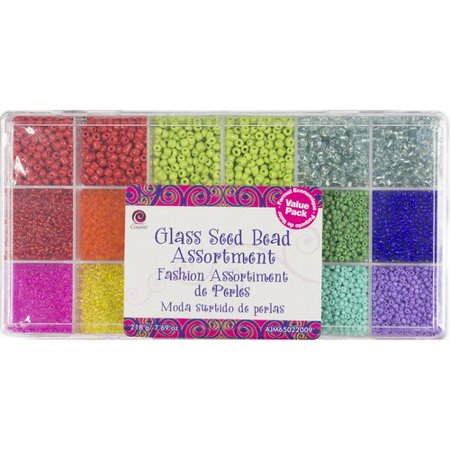 Cousin Seed Bright Mix Bead Value Pack, 1 - Hex Cut Seed Beads