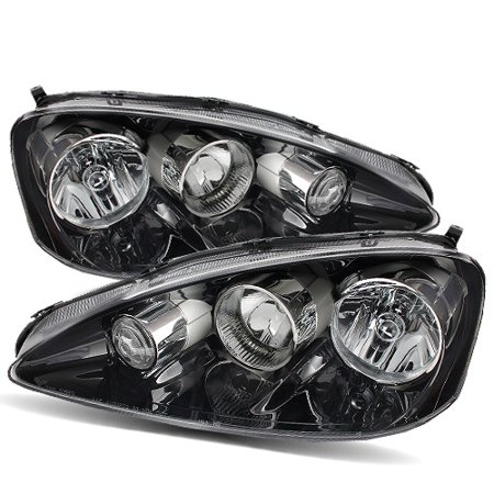 For Acura RSX DC Stock Style JDM Black Crystal Headlights - Acura rsx headlights