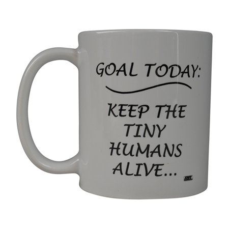 Rogue River Funny Coffee Mug Goal today Kids Novelty Cup Great Gift Idea For Mom Mothers Day Wife Or Parent (Goal)