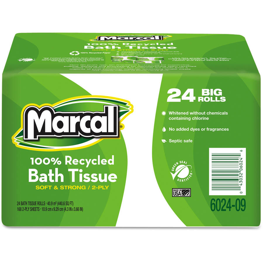 Marcal Small Steps 100 Percent  Recycled Convenience Bundle Bathroom Tissue, 4pk