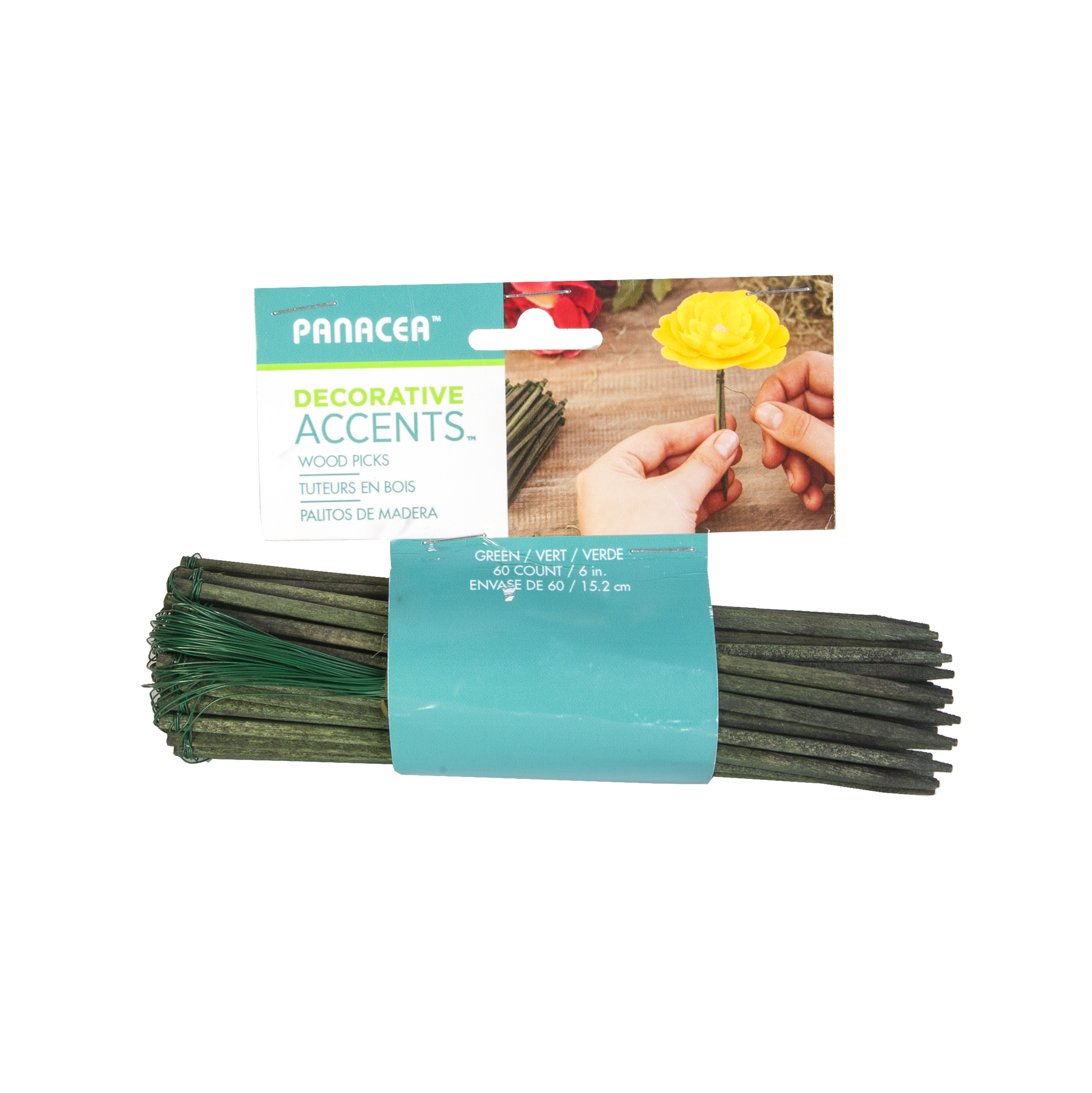 Wire Floral Picks 6 60pk Green