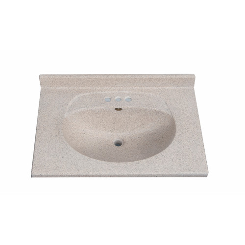 Satin Stone Olympic 31'' Single Bathroom Vanity Top