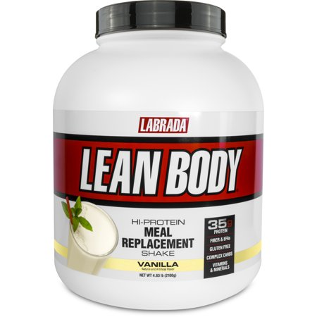 Labrada Lean Body Meal Replacement Powder, Vanilla, 35g Protein, 4.63 LBs, 30 servings