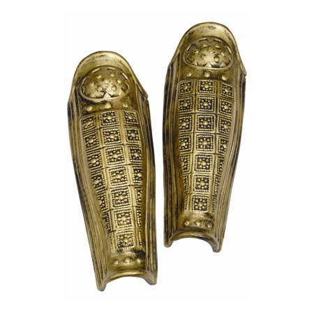 Gold Leg Armor Roman Spartan Gladiator Plastic Guards Shields Knight Accessory - Roman Round Shield