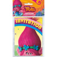 Product Image Trolls Party Invitations 8 Per Pack