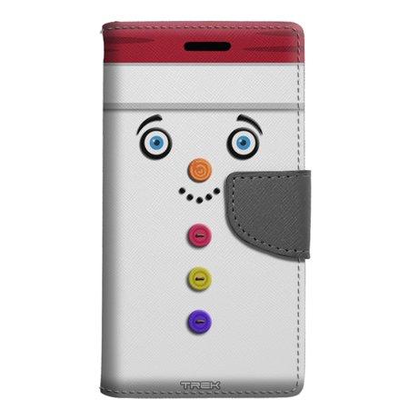 huge discount 7f3d5 72414 Samsung Galaxy S9 Plus Wallet Case - Buttoned Snowman Red Hat Case