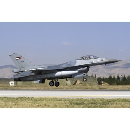A Royal Jordanian Air Force F-16AM taking off from the international Exercise Anatolian Eagle 2014-2 in Konya Turkey Poster Print