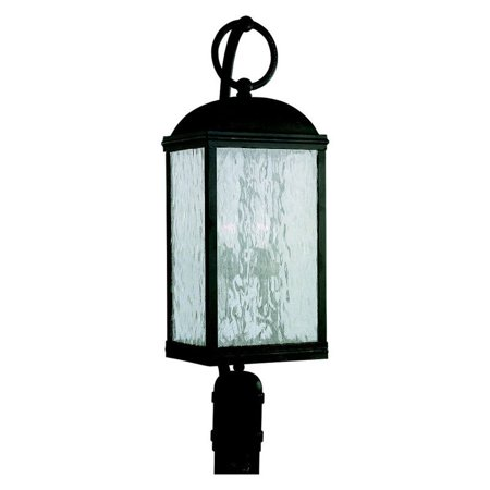Sea Gull Branford Outdoor Post Lantern - 28.5H in. Obsidian Mist