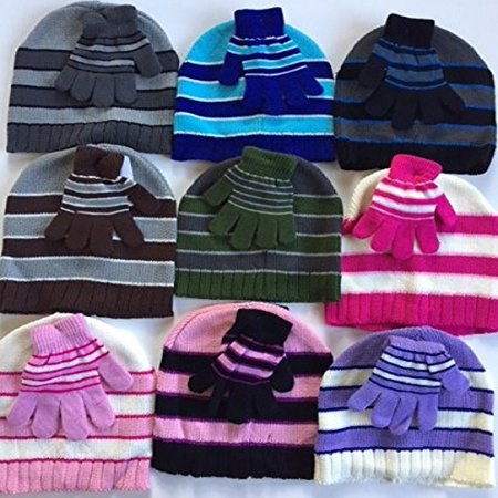 Whole Sale Hats (Wholesale Lot Childrens 24 Winter Hats and Glove)