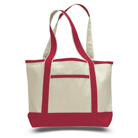 Check Small Tote - Fancy Canvas Tote Bag Small (Red)