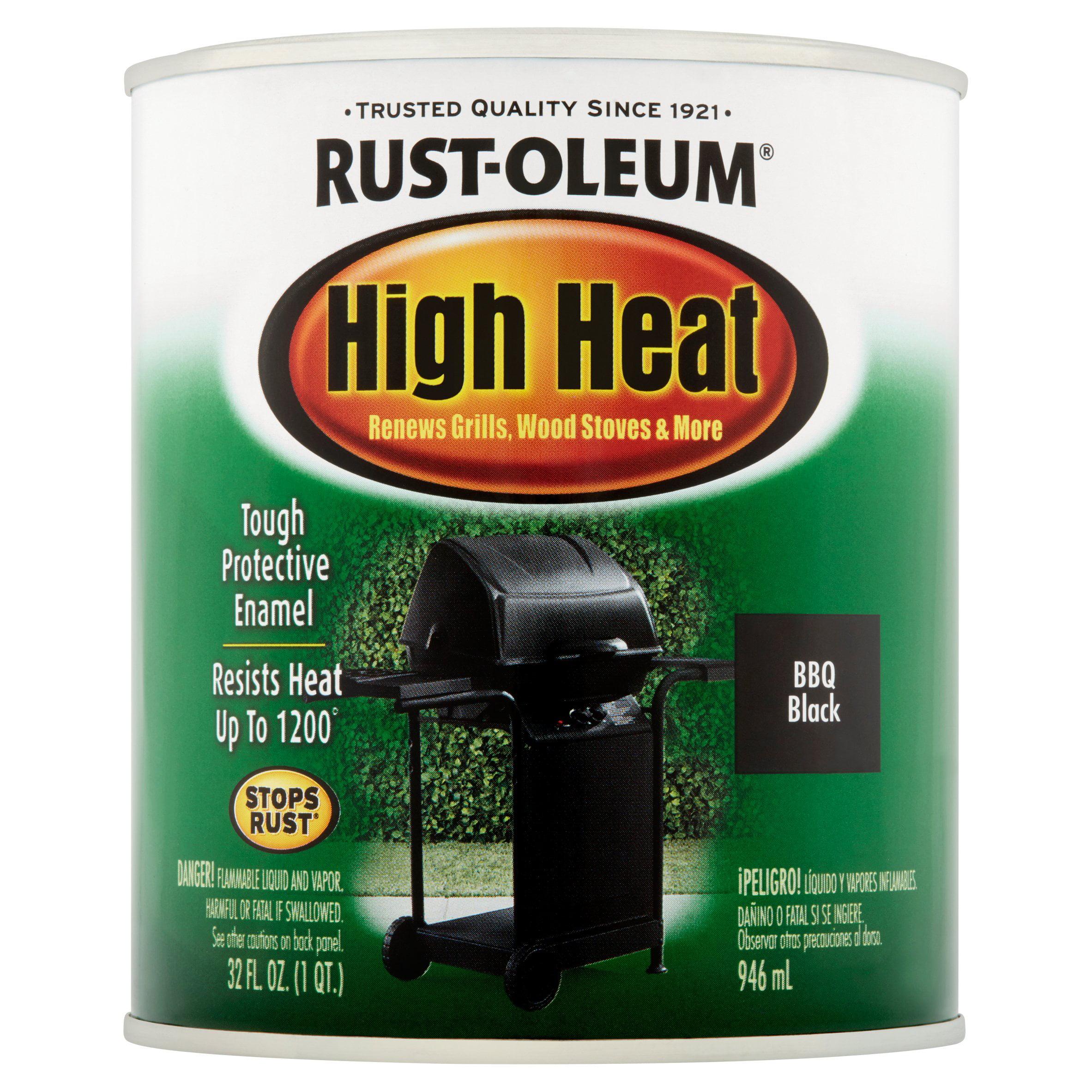 rust oleum high heat flat spray paint walmart com