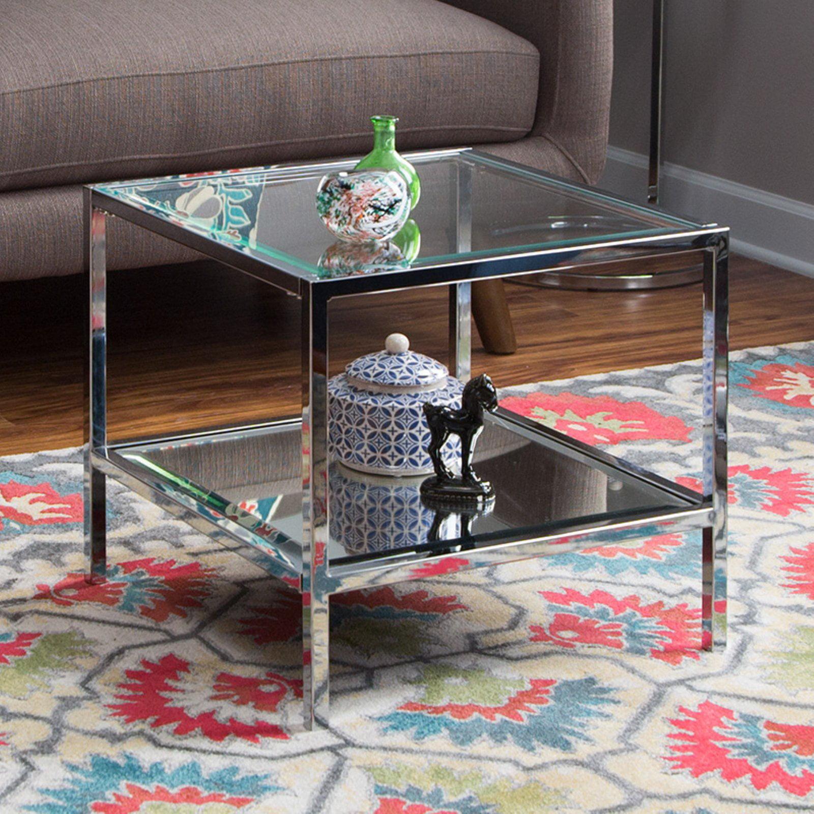 Belham Living Lamont Bunching Coffee Table - Chrome