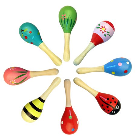 Redcolourful Wooden Maracas Wood Rattles for Baby Kids Toddles Hand Toy Small Size - Wooden Maracas Wholesale