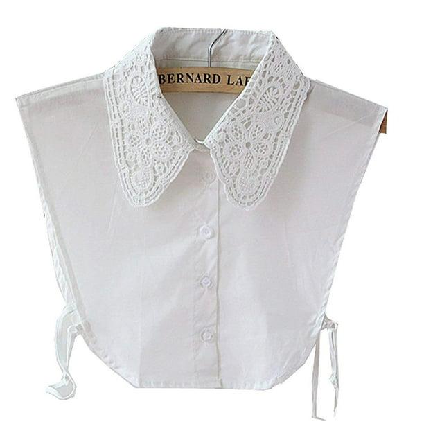 Women Fashion Accessory Lace Peter Pan Necklace Detachable Lapel Collar
