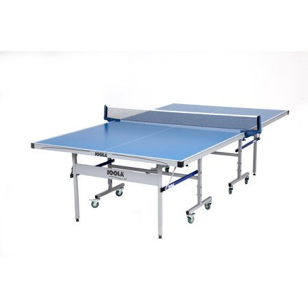 JOOLA Nova DX Outdoor/Indoor All-Weather Table Tennis Table - Features 6mm Aluminum Composite Surface, Rust-Resistant Frame & Weather Proof Net Set - Adjustable Legs and Sturdy Wheels for Any Terrain