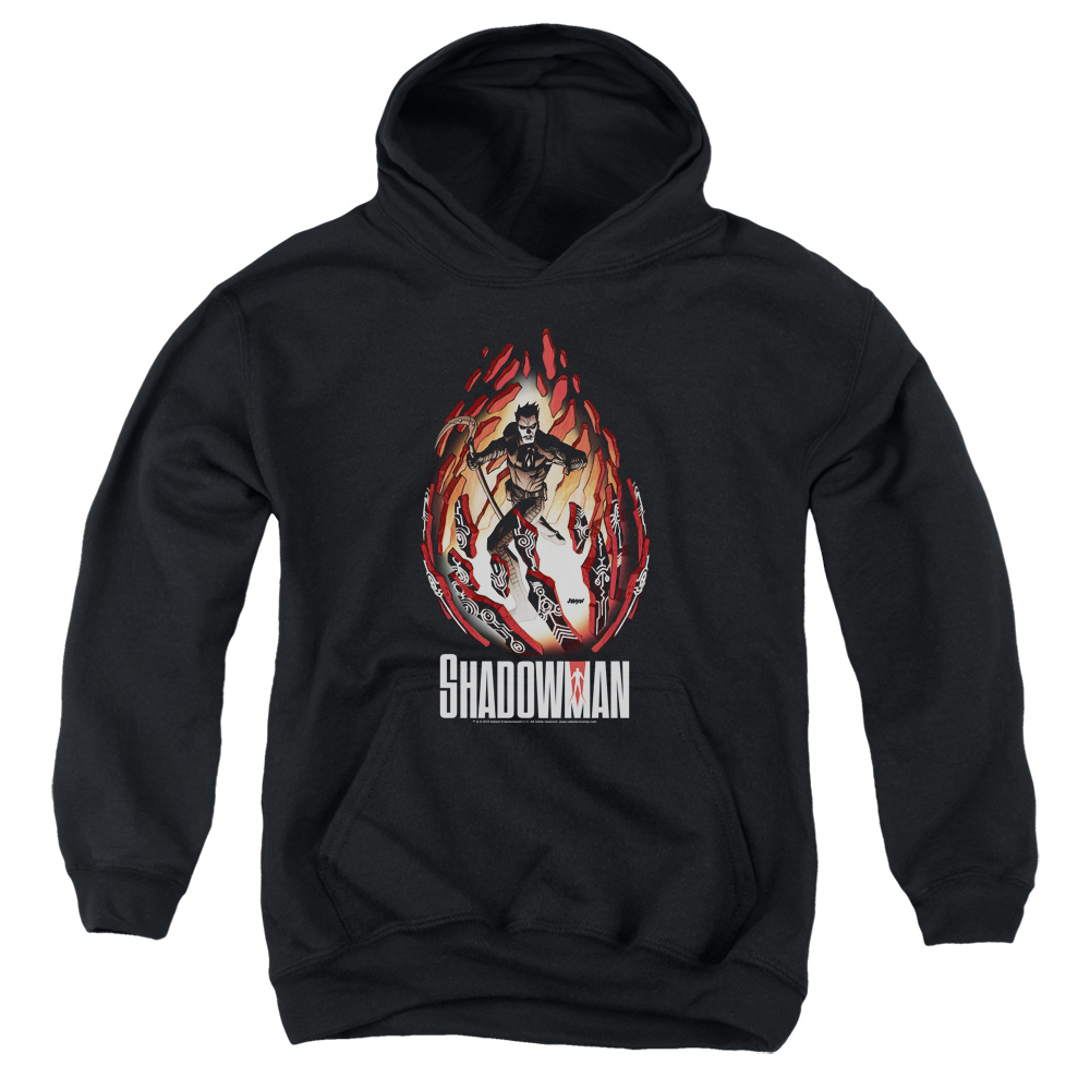 Shadowman Burst Big Boys Pullover Hoodie