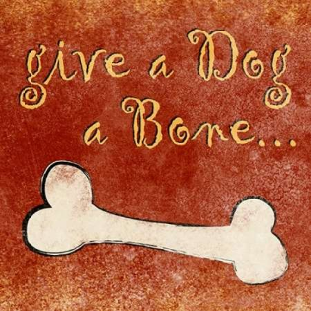 (Give a Dog a Bone Rolled Canvas Art - Sd Graphics Studio (12 x 12))