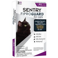 Sentry Fiproguard Flea & Tick Treatment for Cats, 3 Monthly Doses