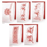 Herrschners®  Christmas Redwork Pillowcase Pairs Stamped Cross-Stitch