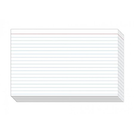 Ruled Index Cards, On 80lb Heavyweight Thick White Cover Stock.