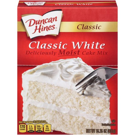 (2 pack) Duncan Hines Classic White Cake Mix, 15.25 oz (Best Of Coach Hines)