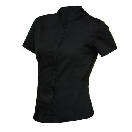 Bargear Ladies Short Sleeved Mandarin Collar Bar Shirt - image 1 of 6