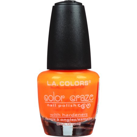L.A. Colors Color Craze Nail Polish, Spat!, 0.44 fl oz (La Splash Nail Polish)