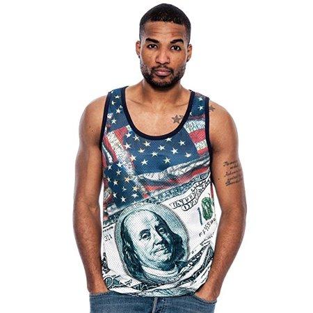 Men's True Rock Tank Top Jersey Style All Over Print Shirt (XL) W38