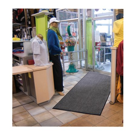 Grounds-Keeper Mats, 3 ft x 5 ft, 1/2 in, Olefin Fiber Top; Vinyl Back, Charcoal Ludlow Indoor Mat
