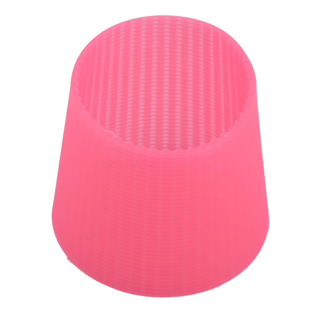 Silicone Round Heat Insulated Glass Cup Bottle Sleeve Cover Protector Fuchsia - image 4 de 4