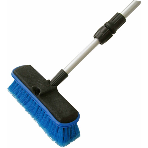 "Detailer's Choice 4B369 Flow-Thru Vehicle Wash Brush with 60"" Telescoping Handle"