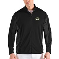 Green Bay Packers Antigua Passage Full-Zip Jacket - Black
