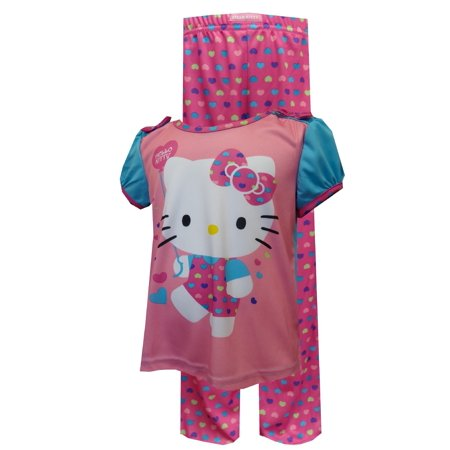 Hello Kitty Rainbow Hearts Toddler Pajamas - Rainbow Kitty