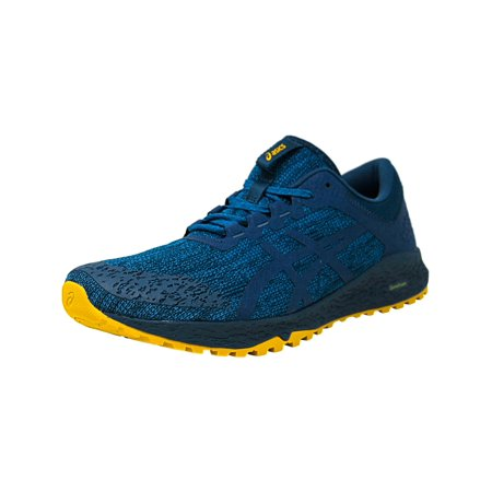 Asics Men's Alpine Xt Turkish Tile / Ink Blue Lemon Curry Ankle-High Mesh Running Shoe -
