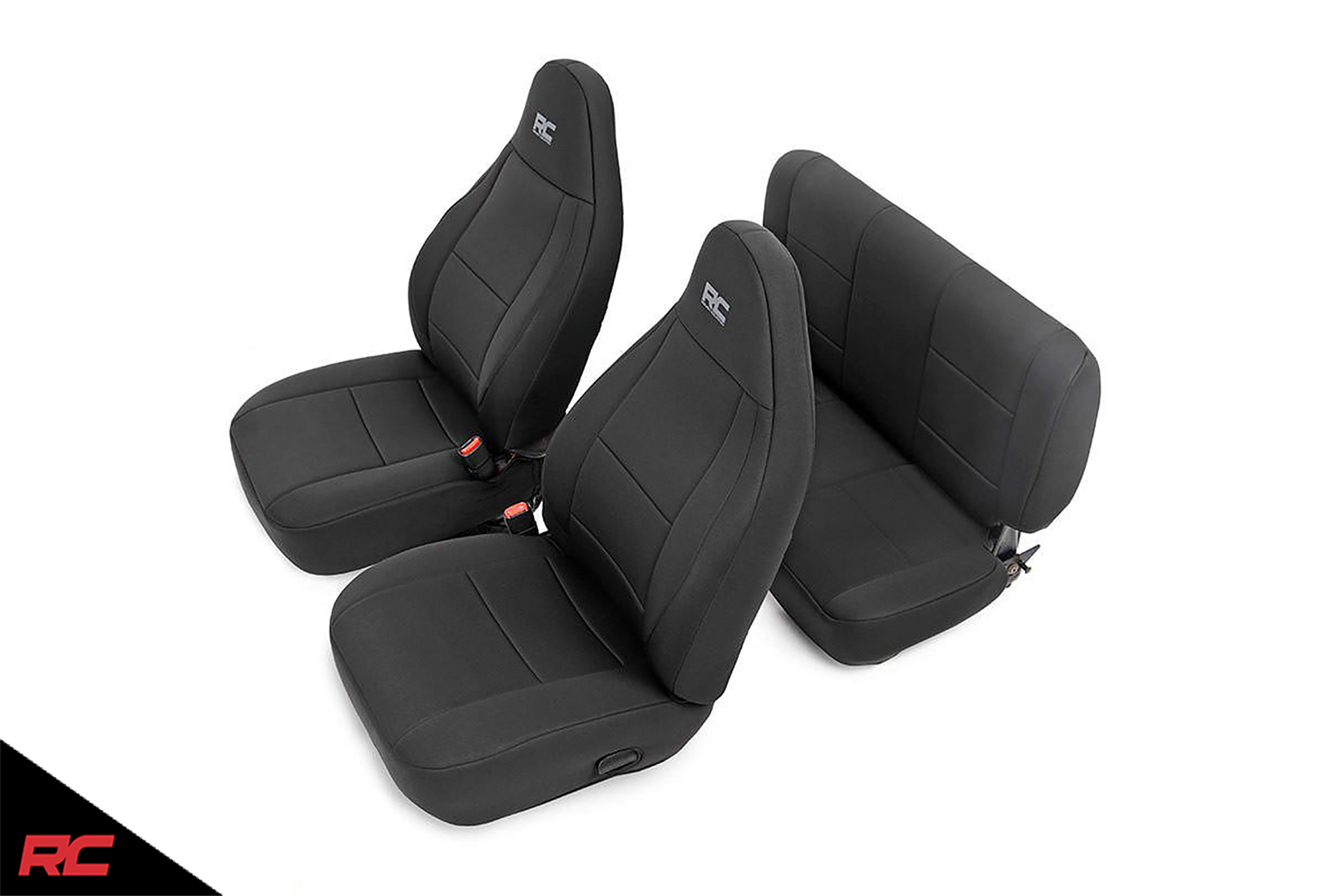 Rough Country Neoprene Seat Covers Black Compatible W