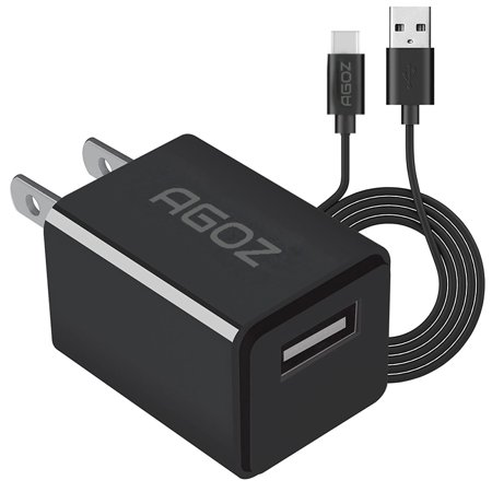 Agoz FAST Charge Home Wall Plug-in Charger Adapter + 6ft USB Type-C Cable Cord For ZTE Blade Spark, Max Duo LTE Z962 BL Z963VL, Blade ZMAX, Blade Max 3, Blade