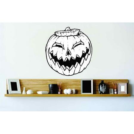 Halloween Smiling Pumpkin Lantern Vinyl Wall Decal Peel & Stick Sticker Home Halloween Party Decoration Kids Boy 20x20 for $<!---->