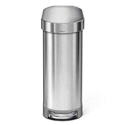 simplehuman slim step can brushed stainless steel liter, 45 l/12 gallon (Simple Human Slim Step)
