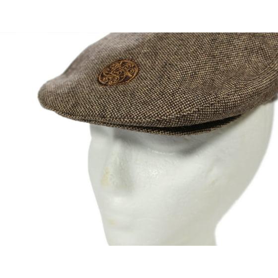 a72f2c7c40518 Patrick Francis - Children s Flat Cap Brown Tweed Celtic Emblem ...